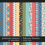 Saltwater Summer Pattern Paper Pack-$3.99 (Jumpstart Designs)