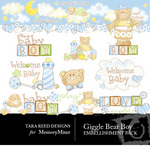 Giggle Bear Boy Embellishment Pack-$3.50 (Tara Reed Designs)