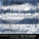 Follow Your Imagination Gesso Borders-$4.99 (Laura Burger)