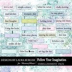 Follow Your Imagination Label Pack-$4.99 (Laura Burger)
