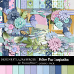 Follow Your Imagination Combo Pack-$8.99 (Laura Burger)
