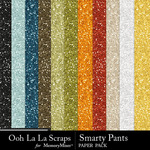 Smarty pants glitter papers small