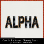 Smarty pants kit alphabets small