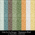 Summers end glitter papers small