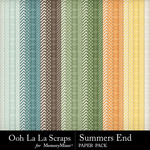 Summers End OLL Pattern Paper Pack-$1.99 (Ooh La La Scraps)