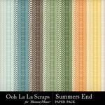 Summers End OLL Pattern Paper Pack-$1.99 (Ooh La La Scraps)