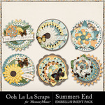 Summers End OLL Cluster Seals Pack-$1.99 (Ooh La La Scraps)
