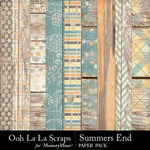 Summers End OLL Worn Wood Papers-$1.99 (Ooh La La Scraps)