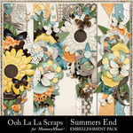 Summers End OLL Page Borders Pack-$1.99 (Ooh La La Scraps)