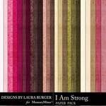 I Am Strong Solid Paper Pack-$3.99 (Laura Burger)