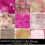 I Am Strong Artsy Paper Pack-$3.99 (Laura Burger)