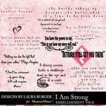 I Am Strong WordArt Pack-$4.99 (Laura Burger)
