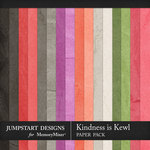 Kindness is Kewl Plain Papers-$3.99 (Jumpstart Designs)