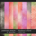 Kindness is Kewl Blended Papers-$3.99 (Jumpstart Designs)