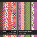 Kindness is Kewl Pattern Papers-$3.99 (Jumpstart Designs)
