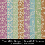 Beautiful Dreamer Bonus Papers-$3.49 (Tami Miller)