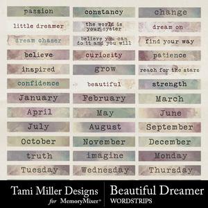Beautiful dreamer word strips medium