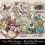 Beautiful Dreamer Embellishments-$4.99 (Tami Miller)