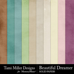 Beautiful dreamer solid papers small