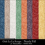 Nearly Fall Glitter Paper Pack-$1.40 (Ooh La La Scraps)