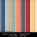 Nearly Fall Pattern Paper Pack-$1.40 (Ooh La La Scraps)