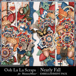 Nearly Fall Page Border Pack-$1.99 (Ooh La La Scraps)
