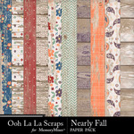 Nearly Fall Wood Paper Pack-$1.40 (Ooh La La Scraps)