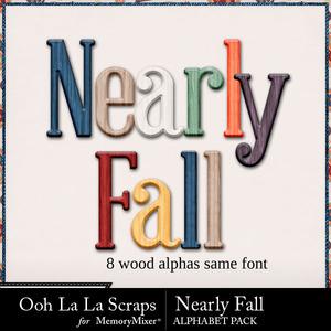 Nearly fall alphabets medium