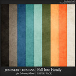 Fall Into Family Solid Paper Pack-$3.99 (Jumpstart Designs)