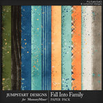 Fall Into Family Blended Paper Pack-$3.99 (Jumpstart Designs)