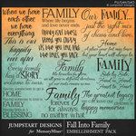 Fall Into Family WordArt Pack-$3.99 (Jumpstart Designs)