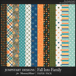 Fall Into Family Pattern Paper Pack-$3.99 (Jumpstart Designs)
