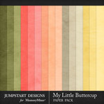 My Little Buttercup Solid Paper Pack-$3.99 (Jumpstart Designs)