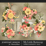 My Little Buttercup Cluster Pack-$3.99 (Jumpstart Designs)