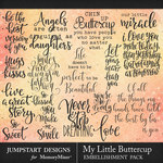 My Little Buttercup WordArt Pack-$3.99 (Jumpstart Designs)