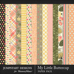 My Little Buttercup Pattern Paper Pack-$3.99 (Jumpstart Designs)