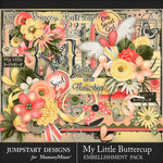 My Little Buttercup Embellishment Pack-$5.99 (Jumpstart Designs)