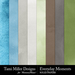 Everyday Moments TM Solid Paper Pack-$1.99 (Tami Miller)