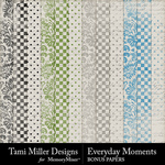 Everyday Moments TM Bonus Paper Pack-$4.99 (Tami Miller)