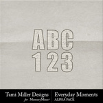 Everyday Moments TM Alphabet Pack-$1.99 (Tami Miller)