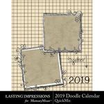2019 Doodle Calendar-$5.99 (Lasting Impressions)