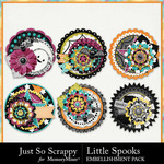 Little Spooks Cluster Seals Pack-$1.99 (Just So Scrappy)