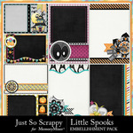 Little Spooks Pocket Scrap Cards Pack-$1.99 (Just So Scrappy)