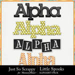 Little Spooks Alphabet Pack-$3.49 (Just So Scrappy)