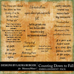 Counting Down to Fall WordArt Pack-$4.99 (Laura Burger)