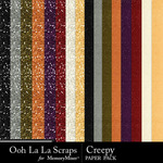 Creepy glitter papers small