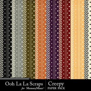 Creepy pattern papers medium