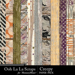 Creepy Wood Paper Pack-$1.99 (Ooh La La Scraps)