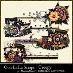 Creepy Cluster Stitches Pack-$1.99 (Ooh La La Scraps)