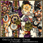 Creepy Page Borders Pack-$1.99 (Ooh La La Scraps)